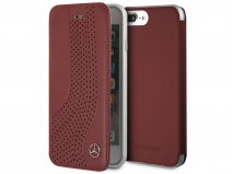 Mercedes-Benz Curve Folio Rood Leer - iPhone 8+/7+/6+ hoesje