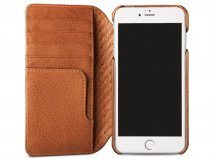 Vaja Wallet Agenda Case Saddle Tan - iPhone 8+/7+ Hoesje Leer