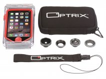 Optrix PRO Kit Waterdicht iPhone SE/5s Hoesje + Lenzen