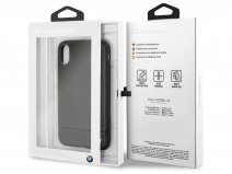 BMW Logo Leather Case Zwart - Leren iPhone X hoesje