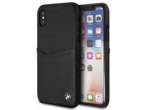 BMW Leather Card Case - Leren iPhone X hoesje