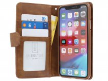 Zip Wallet Case Bruin - iPhone X/Xs hoesje