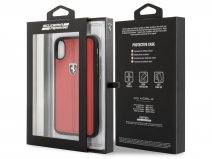 Ferrari Heritage Stitch Case Rood - iPhone X hoesje