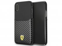 Ferrari Carbon Card Case - iPhone X/Xs hoesje