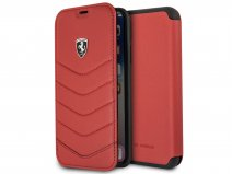 Ferrari Heritage Quilted Book Rood - iPhone X hoesje