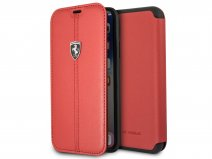 Ferrari Heritage Stitch Book Rood Leer - iPhone X/Xs hoesje