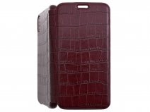 Graffi Oyster Croco Bordeaux Leer - iPhone X/Xs hoesje