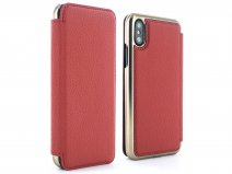 Greenwich Blake Folio Scarlet/Gold - iPhone X/Xs hoesje