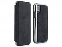 Greenwich Walker Gunmetal - Alcantara iPhone X/Xs hoesje