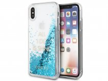 Guess All I Do Is Shine Case Blauw - iPhone X hoesje