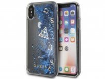 Guess Floating Logo Case Blauw - iPhone X/Xs hoesje