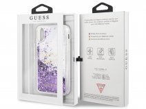 Guess Glitter Party Case Paars - iPhone X/Xs hoesje
