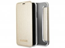 Guess Iridescent Bookcase Goud - iPhone X/Xs hoesje