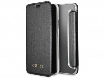 Guess Iridescent Clear Bookcase Zwart - iPhone X/Xs hoesje