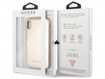 Guess Iridescent Soft Case Goud - iPhone X/Xs hoesje