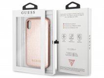 Guess Iridescent Soft Case Ros� - iPhone X hoesje