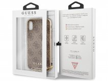 Guess Monogram Charm Case Bruin - iPhone X/Xs hoesje