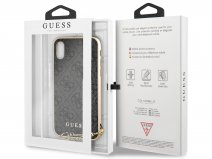 Guess Monogram Charm Case Grijs - iPhone X/Xs hoesje