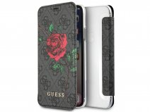 Guess Monogram Rose Bookcase Grijs - iPhone X/Xs hoesje