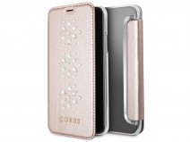 Guess Diamond Snow Flake Bookcase - iPhone X hoesje