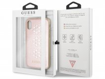Guess Diamond Snow Flake Soft Case - iPhone X/Xs hoesje