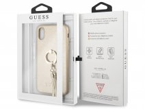 Guess Tassel iRing Case Goud - iPhone X/Xs hoesje