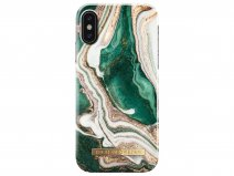 iDeal of Sweden Case Golden Jade Marble - iPhone X/Xs hoesje