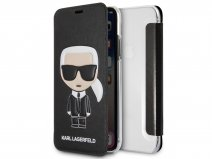 Karl Lagerfeld Iconic Bookcase Zwart - iPhone X/Xs hoesje