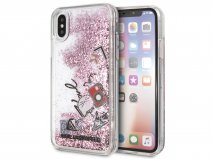 Karl Lagerfeld Iconic Glitter Rose - iPhone X/Xs hoesje
