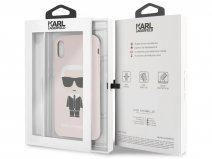 Karl Lagerfeld Iconic Case Roze - iPhone X/Xs hoesje