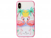 Kate Spade Jeweled Flamingos Case - iPhone X/Xs Hoesje