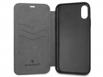 Maserati Leather Bookcase - iPhone X/Xs Hoesje Leer