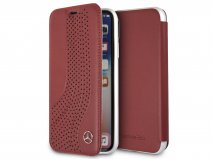Mercedes-Benz Bookcase Rood Leer - iPhone X/Xs hoesje