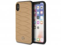 Mercedes-Benz Pattern III Case Bruin - iPhone X/Xs hoesje