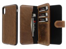 Pierre Cardin Wallet Case Bruin - Leren iPhone X/Xs hoesje