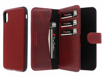 Pierre Cardin Wallet Case Rood - Leren iPhone X/Xs hoesje