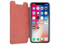 Pierre Cardin Slim Bookcase Rood - iPhone X/Xs hoesje