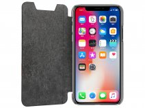 Pierre Cardin Slim Bookcase Zwart - iPhone X/Xs hoesje