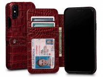 Sena Wallet Book Classic Case Croco - iPhone X/Xs hoesje