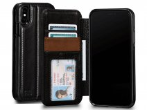 Sena Deen Wallet Book Zwart - iPhone X/Xs Hoesje Leer