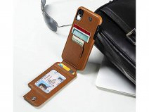 Sena WalletSkin Case Saddle Tan - iPhone X/Xs Hoesje Leer