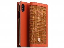 SLG Design D5 CSL Case Orange - Leren iPhone X/Xs hoesje