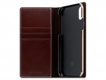 SLG D7 Buttero Leather Case Bruin - iPhone X/Xs hoesje