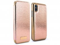 Ted Baker Fenela Folio Rose Gold - iPhone X Hoesje