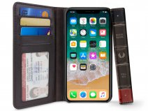 Twelve South BookBook Bruin - Leren iPhone X/Xs hoesje