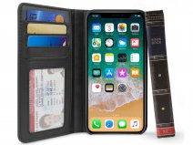 Twelve South BookBook Zwart - Leren iPhone X/Xs hoesje
