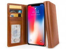 Twelve South Journal Cognac - Leren iPhone X/Xs hoesje