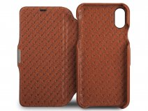 Vaja Agenda MG Case Saddle Tan - iPhone X/Xs Hoesje Leer