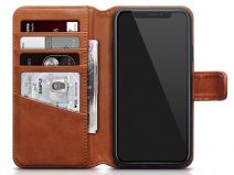 CaseBoutique Leather Bookcase Cognac - iPhone X hoesje leer