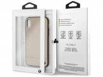 BMW Signature Case Taupe Leer - iPhone XR hoesje
